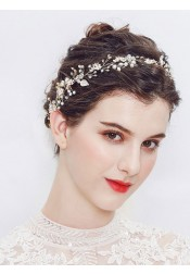 Fashionable Bridal Headbands with Crystal and Imitation Pearls