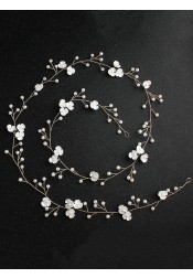 Bridal Headbands Wedding Accessory with Imitation Pearls