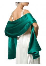Satin Solid Color Shawls and Wraps