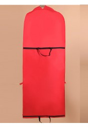 Red Nonwoven Dress Length Garment Bags