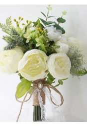 Emulation Peonies Bridal Bouquets/Bridesmaid Bouquets