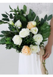 Eye-Catching Emulation Succulent Plant Bridal Bouquets