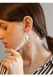 Personality Gold Alloy Earring