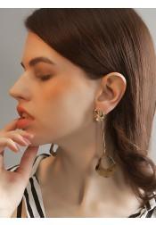 Elegant Long Alloy/Acrylic Earring
