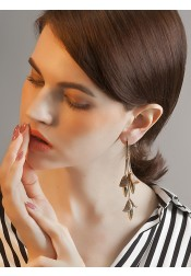 Beautiful Copper/Zinc Acrylic Long Earring