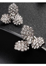 Beautiful and Cute Crystal Bridal Earrings Clip