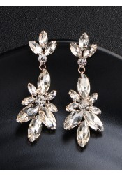 Luxury Crystal Drop Earrings Jewelry for Bridal