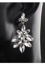 Luxury Chandelier Crystal Drop Earrings for Bridal