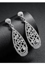 Nice Crystal Bridal Earrings Fashion Drop Earrings for Women