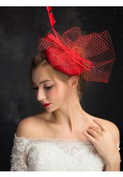 Ladies' Vintage Cambric Fascinators With Feathers