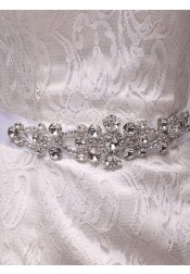 Stylish/Beautiful Satin Sash with Beading Crystal