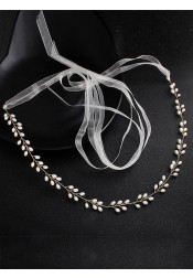 Fashion Alloy Sash with Imitation Pearls