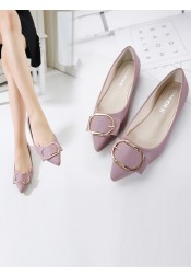 Lavender Pumps Plat Heel Dance Party Shoes