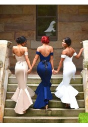 Sexy Women's  Mermaid Off-the-Shoulder Prom Dress/Bridesmaid Dress