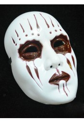 Terror Ghost Mask White Plastic Halloween Mask