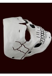 Halloween Cosplay 007 Movie Ghost Party White Resin Halloween Mask
