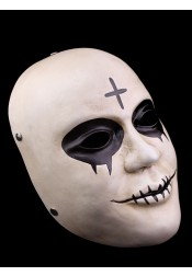 Halloween Cosplay The Purge Blood Mouth Cross Mask