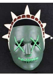 The Purge 3 Election Year Anarchy Lady Liberty Halloween Clown Mask