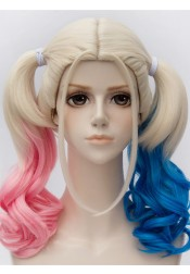 Suicide Squad Harley Quinn Cosplay Wig Halloween Cosplay