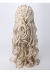Game of Thrones Dragon Mother's Long Silver Long Hair