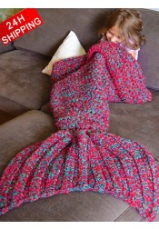 Super Soft Crocheted Sofa Blanket Mermaid Tail Blanket Kids / Adult