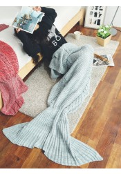 Morden Grey Mermaid Tail Blanket Spring Summer Blanket