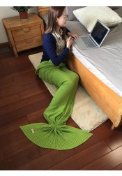 Fashion Air Conditioning Knitting Mermaid Tail Blanket