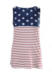 Star Striped Print Patriotic Tank Top
