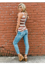 Patchwork Star Striped July of 4th Patriotic T-Shirt