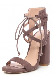 Nude Open Toe Strappy PU Chunky Sandals