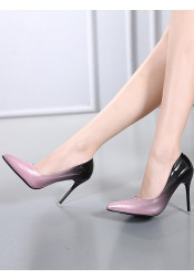 Ombre Color Closed Toe Stiletto Heels