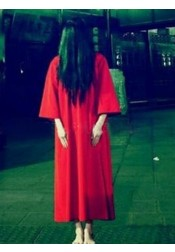 Ankle-Length Loose Ghost Gown Horrible Halloween Costume