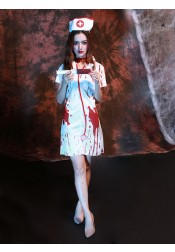 Terror Zombie Nurse Uniform Halloween Ghost Costume