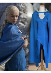 Game of Thrones Dragon Mother Cosplay Costume with Cloak