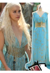 Game of Thrones Daenerys Targaryen Dress Halloween Cosplay Costume