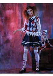 Teen Scary Costumes for Girls Horrible Student Zombie Costumes Halloween Party Costumes