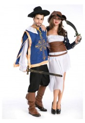 Pirate Halloween Costumes For Couples Sexy Fancy Cosplay Party Costumes