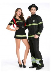 Couples Halloween Costumes Sexy Adults Cosplay Fireman Fancy Halloween Costume