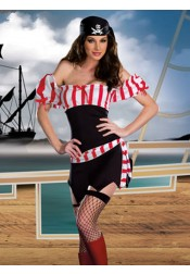 Pirate Couples Halloween Costumes White Strips Adult Cosplay Halloween Costume