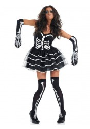 Scary Black Couples Costumes Fun Shack Adult Skeleton Dress Halloween Costume