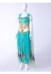 Princess Jasmine 2019 Movie Aladdin Halloween Cosplay Costume