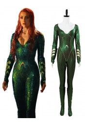 Aquaman Mera Jumpsuit Outfit Cosplay Costume