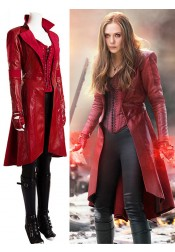 Captain America Civil War Scarlet Witch Cosplay Costume(Top 100 gift gloves and socks)