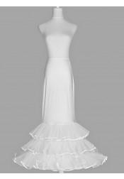 White A-line Slip Multi-tier Wedding Dress Petticoats