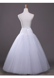 Plus Size Ball Gown Slip White Wedding Dress Petticoats For Women