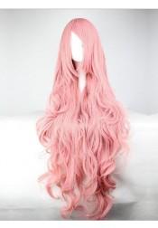 Fashion Anime pink wigs Volume silk long hair curly wave Cosplay Halloween