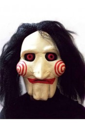KingMas Saw Movie Jigsaw Puppet Mask Halloween Full Mask
