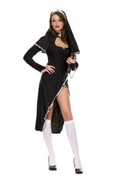 Sexy Halloween Nun Costumes for Cosplay