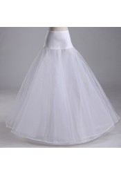 A-line Satin Waist  White Wedding Petticoats