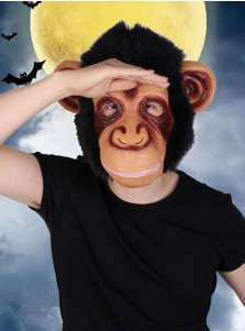 Funny Halloween Party Silicone Big Mouth Monkey Orangutan Mask